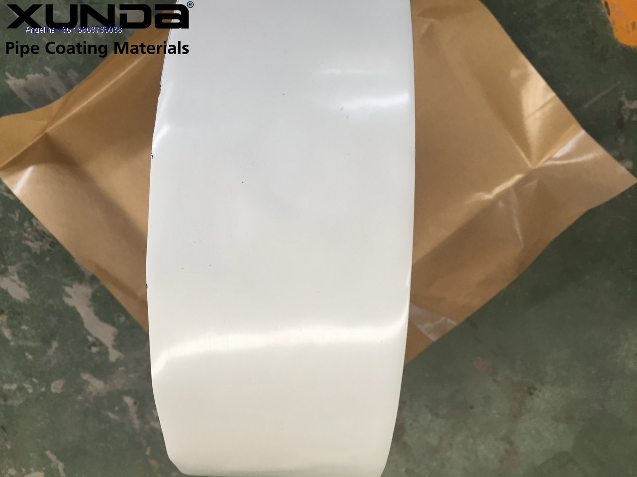 white color PE tape for wrapping water pipe