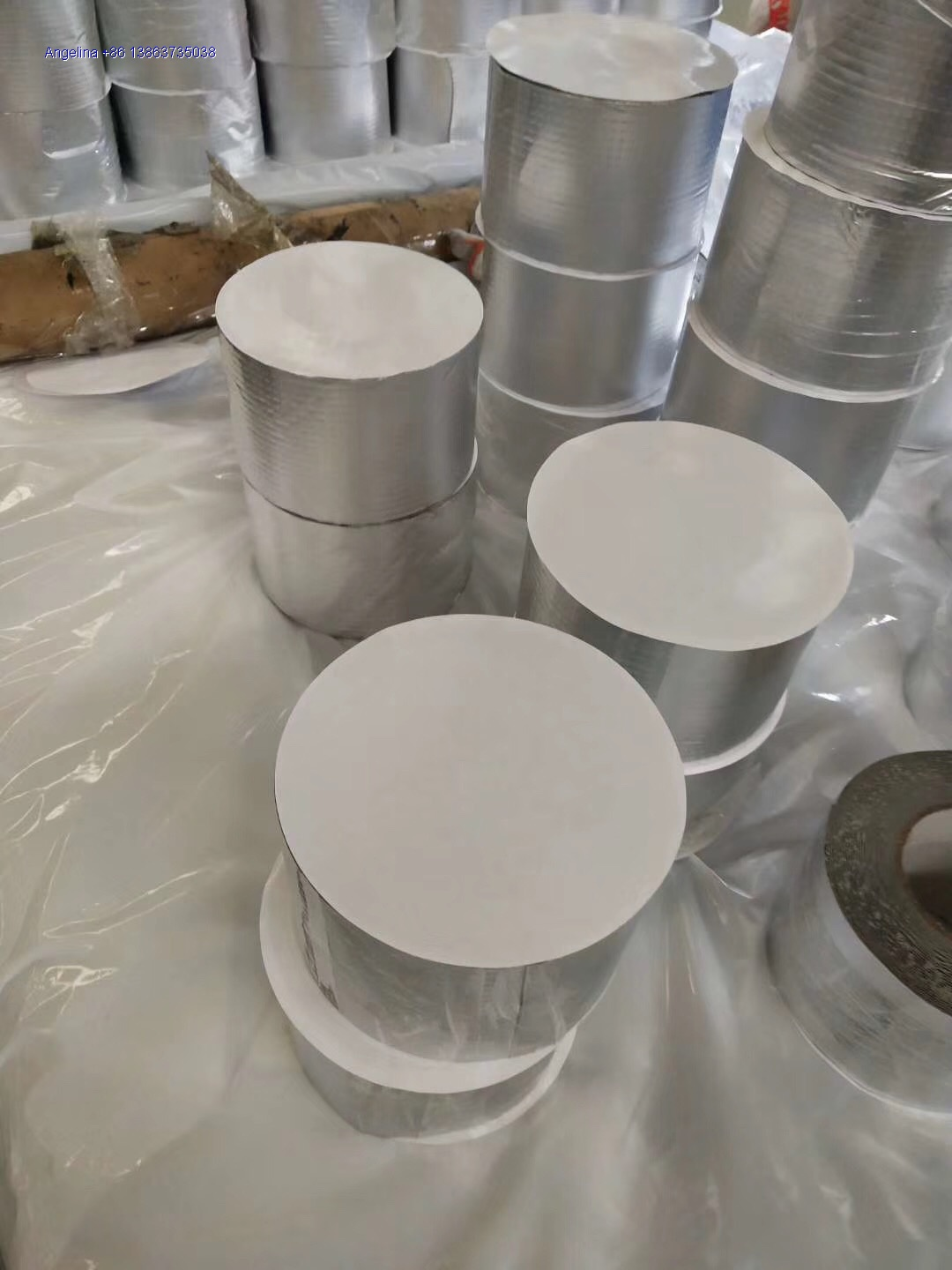 PLASTIC FILMS COATED ALUMINIUM FOIL BUTYL RUBBER TAPE