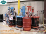 Liquid adhesive for steel pipe for corrosion protection